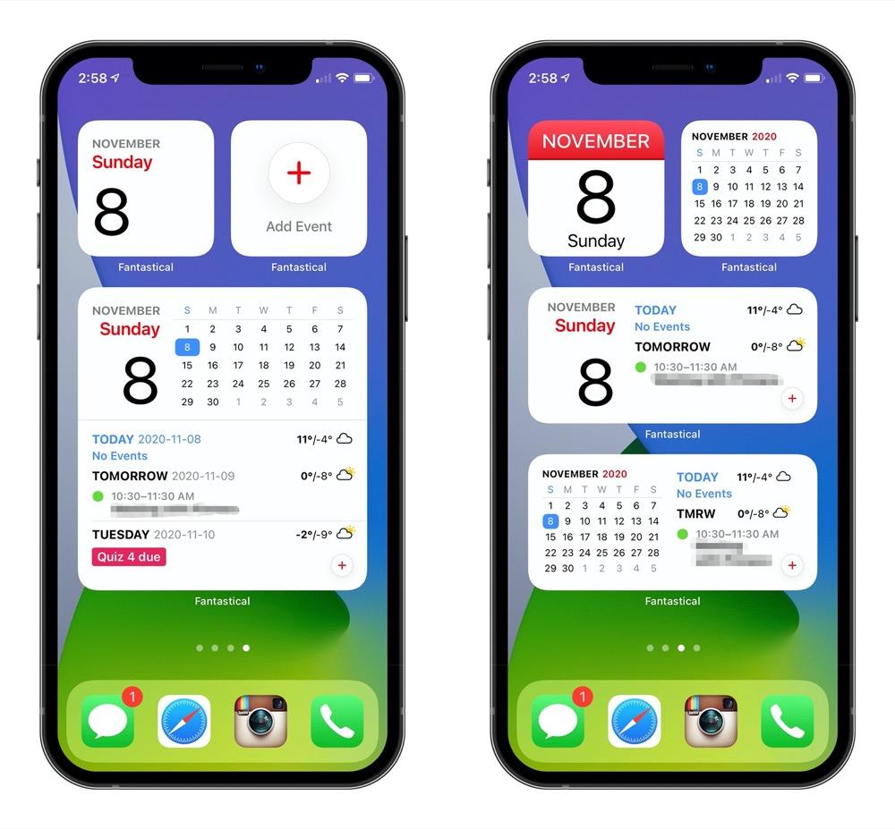 Calendar Widgets For iPhone