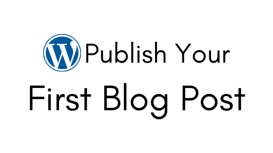 Publish your First Post